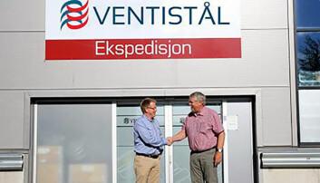 Fra venstre ser vi KAM Øyvind Skjørseth i Ventistål og Terje Strøm fra Europair.