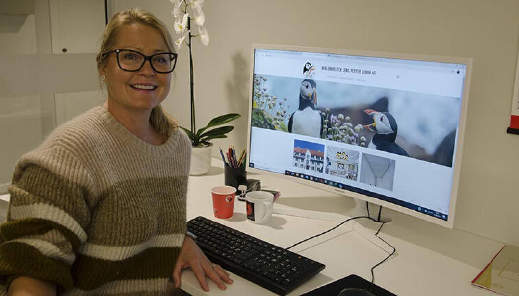– Jeg tar bilde av folkene våre i aksjon. Det har mye å si, ikke minst for motivasjonen til de ansatte, sier Marthe Lunde i JP Lunde AS.