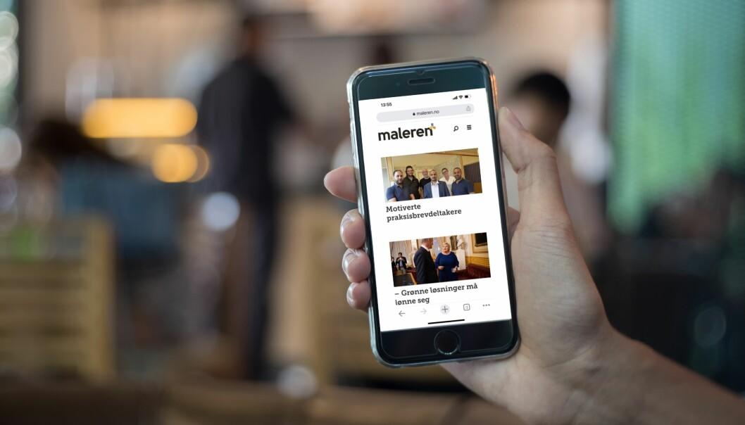 Redaktør Synnøve Prytz Berset er fornøyd med at fagbladet Maleren nå har fått raskere nettsider med mer oversiktlig og fresh layout.